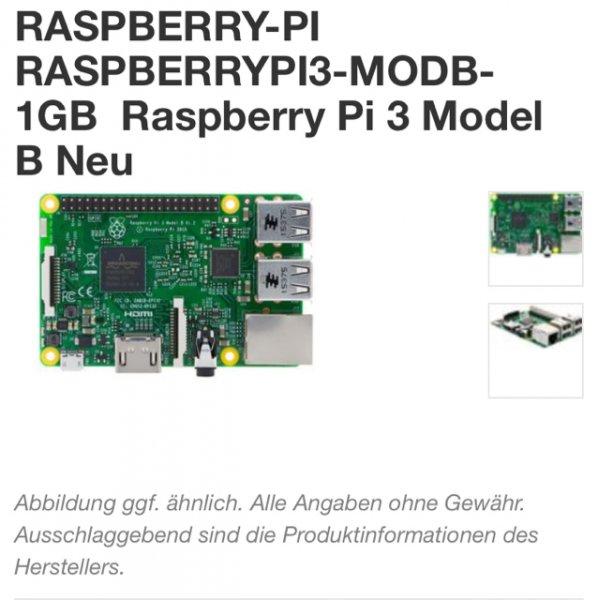 RASPBERRY 3 - 31,98€ - Bestpreis