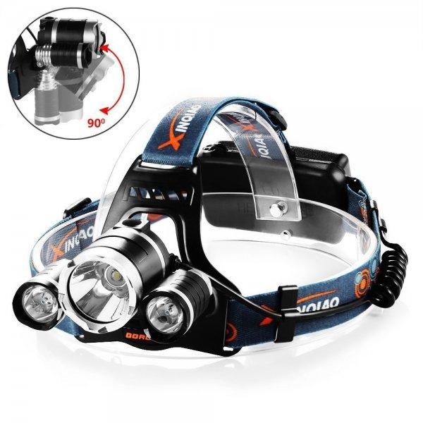 Wasserfeste Lithium LED-Stirnlampe mit Akku