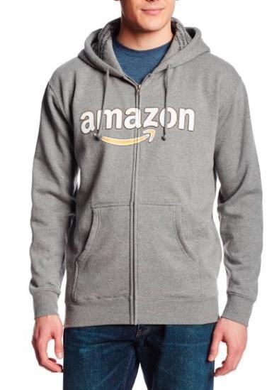 [Amazon] Unisex Kapuzensweatshirt in Grau mit Reißverschluss (Größe M) für 7,60€