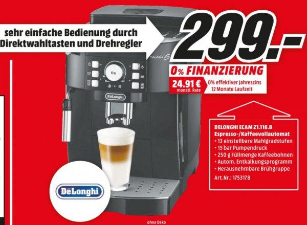 [Lokal MediaMarkt Köln] De'Longhi ECAM 21.116.B Magnifica S schwarz für 299€, PVG: 399€