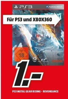 [Lokal Mediamarkt Homburg]] Metal Gear Rising: Revengeance für PS3 oder XB360 für je 1,-€
