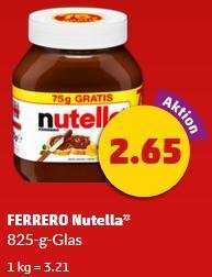 Nutella 1 kg für 3,21 € bei Penny am Samstag