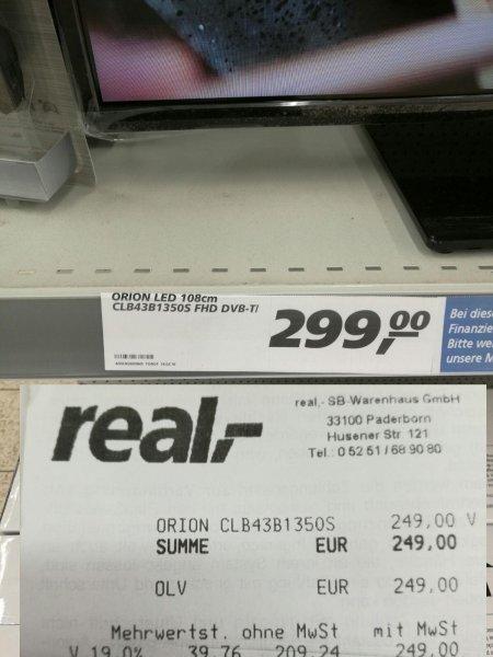 REAL Preisfehler Orion TV 43 Zoll