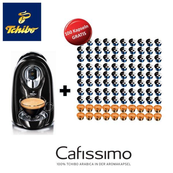 Tchibo Cafissimo COMPACT Kaffeekapselmaschine EOL-Edition + 100 Kapseln für 49,90€ @ Ebay