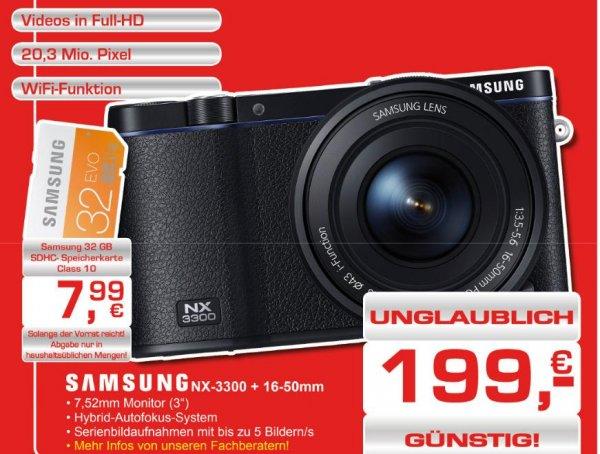 Samsung NX-3300 + 16-50mm bei Foto-Gregor in Hamburg (lokal?)