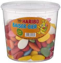 [Amazon Plus Produkt] Ideal zu Ostern: Haribo Baiser Eier, 1.05 kg Eimer für 3,21€