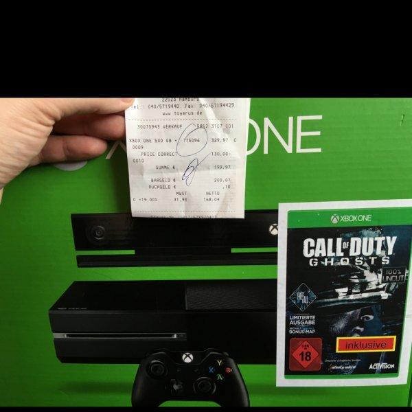 Xbox one inkl Kinect und Call of Duty für 199,97€