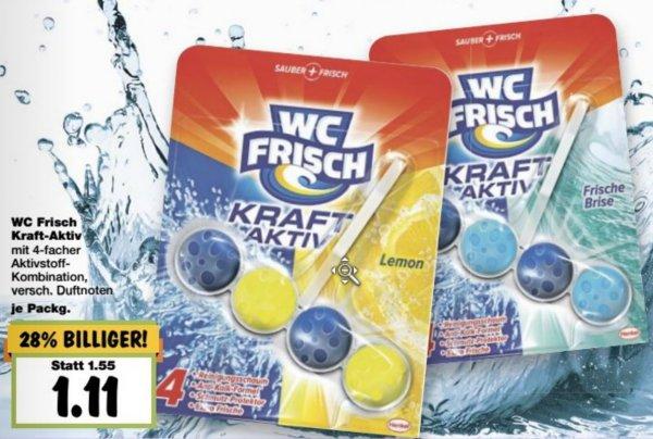 WC Frisch Kraft-Aktiv Spüler für 0,78€ je Stück (ab Kauf von 3 Stück) @ Kaufland [NRW]