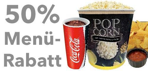 50 % auf Menüs im UCI für moviepoints Kartenbesitzer
