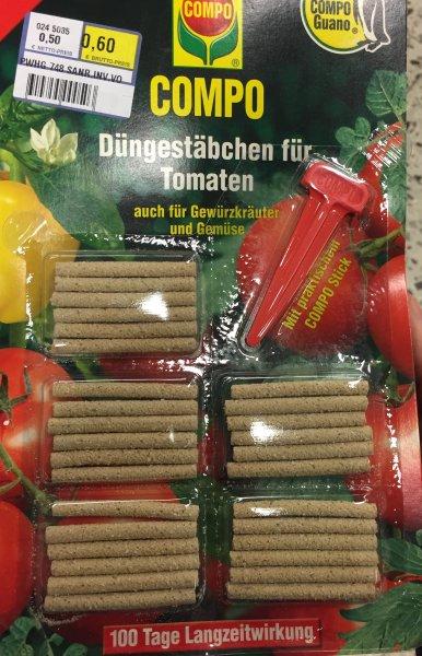 Compo Düngestäbchen für Tomaten / Chilis 0,60 Euro [Lokal Metro HH-Rahlstedt]