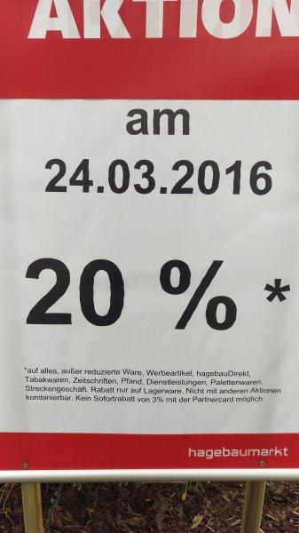 20% Hagebau Hückelhoven 24.03.2016