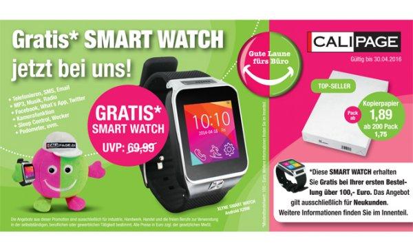 Smartwatch XLYNE X29W kostenlos zur Bestellung über 100,- EUR netto, Nur für Gewerbliche Endkunden!, Nur für Neukunden von Calipage.de! ab 12.04.2016