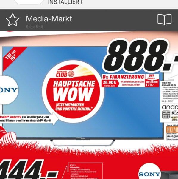 [Lokal] Media Markt Stuttgart Sony KD55x8505