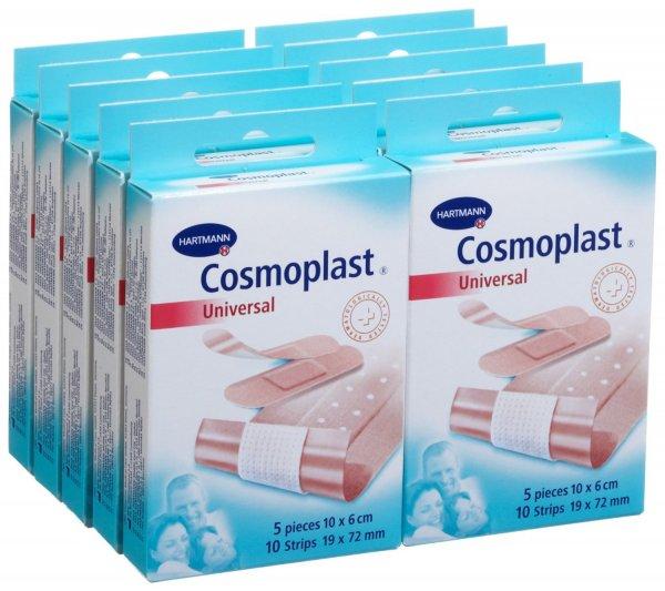 [Amazon.de Prime] Cosmoplast 10 Packungen mit je 5 Wundpflastern und je 10 Strips - nur 6,73€ (0,67€/Packung)