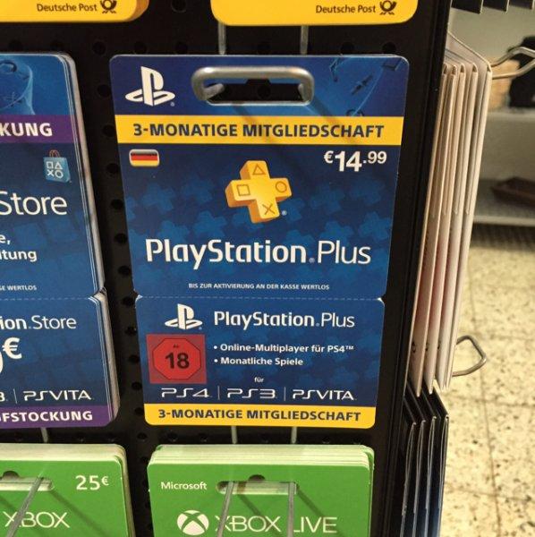 Krefeld 3 Monate Playstation Plus Mitgliedschaft
