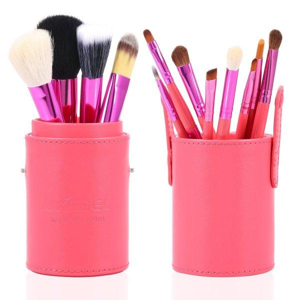 Amazon = Luxebell® 12 Stück Schminkbürsten/Kosmetikbürsten (pink, türkis, schwarz) € 9,90