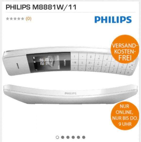 [saturn online] Philips Schnurlostelefon | bis zu 250 Einträge | TFT-Farbdisplay | Standy bis zu 250 Std. in weiß