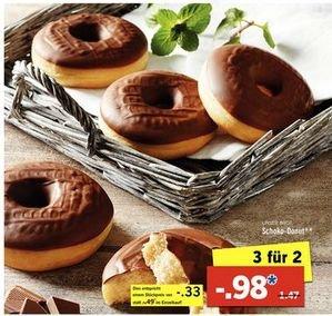 [Lidl ab 29.03] Wieder da....3 Schoko-Donuts für 0,98€.