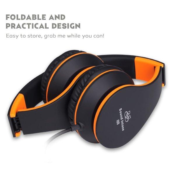 Amazon.de:I68 faltbarer Over-Ear-Kopfhörer, Rauschreduzierung, Lautstärkeregelung, Mikrofon und 3,5 mm Klinkestecker