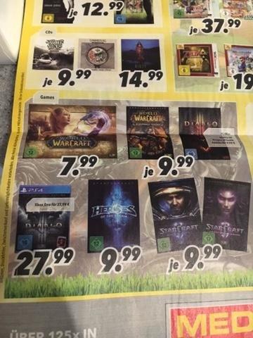 [Lokal Berlin&Brandenburg] Medimax Blizzard Spiele: WoW, Diablo 3 + Addon, SC2 + 1. Addon