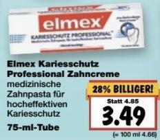 [Bundesweit, Kaufland] KW13: Elmex Kariesschutz Professional Zahncreme -49% (Angebot + Coupon)