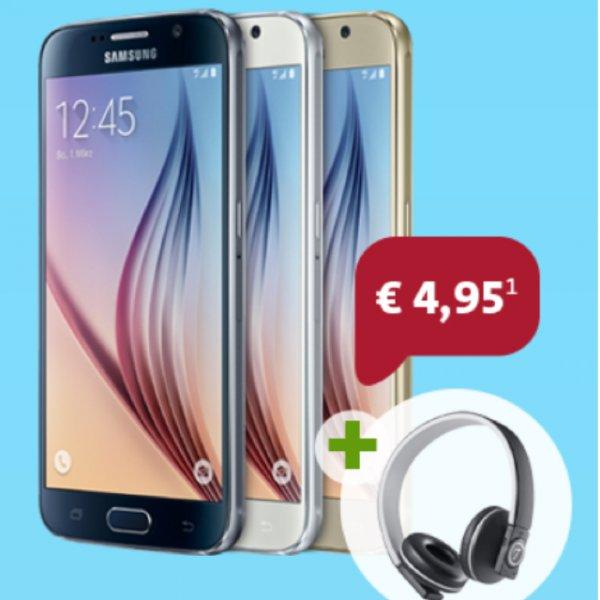 Samsung Galaxy S6 + Teufel Airy On-Ear Kopfhörer ab 4,95€, 19,90€/mtl
