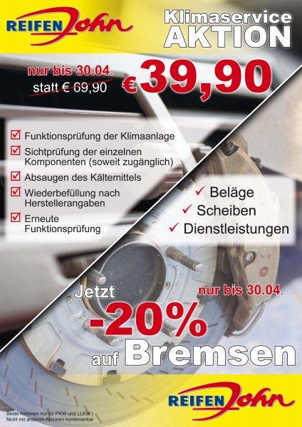 [Bayern & Österreich] Klimaservice / Klimaanlagen-Wartung / Klimaanlagen-Inspektion bei Reifen John (bis 30.04) - 39,90 €