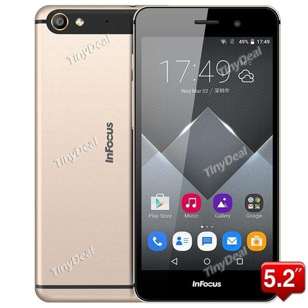 "(tinydeal) DE VERSAND INFOCUS M560 5.2"" FHD MTK6753 64-bit Octa-core Android 5.1 4G Phone 2GB RAM 16GB ROM 13MP"
