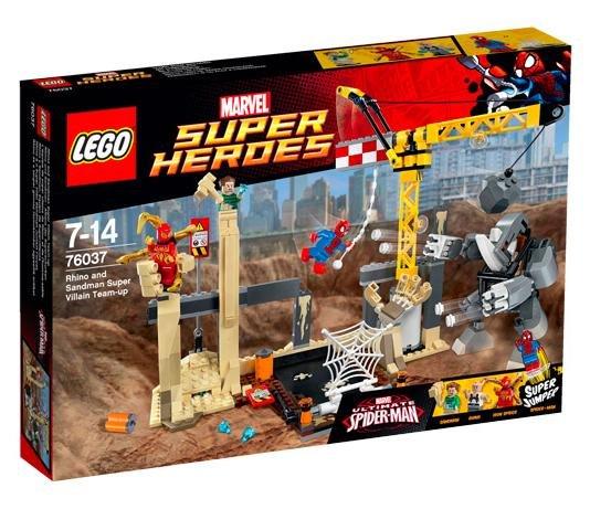 [real.de] LEGO Marvel Super Heroes 76037 Rhino und Sandman - Allianz der Superschurken für 31,20€ inkl VSK statt ca. 40€