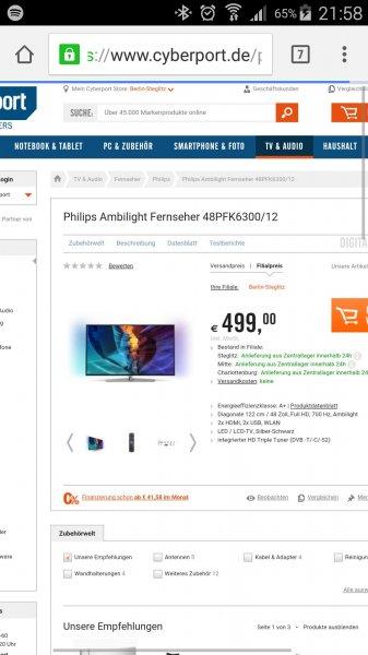 Philips Ambilight 48PFK6300/12