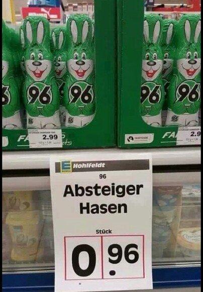 "[Lokal Edeka 31275 Ahlten]Hannover 96 Schokoladen ""Absteiger-Hasen"""