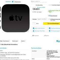 Apple TV 4 mit 32GB ab 129€ @Conrad