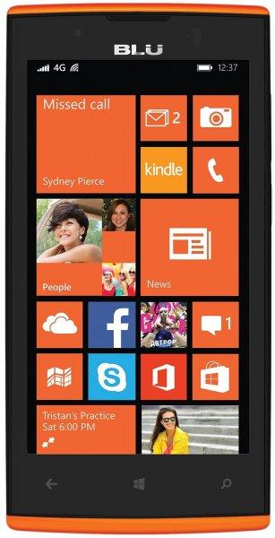 BLU Win JR LTE Smartphone (4,5 Zoll (11,4 cm) Touch-Display, 8 GB Speicher, Windows 8.1) orange @ Amazon WHD UK