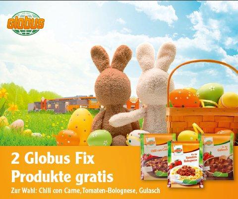 [GLOBUS] Gratis-Coupon für 2 Globus Fix Produkte