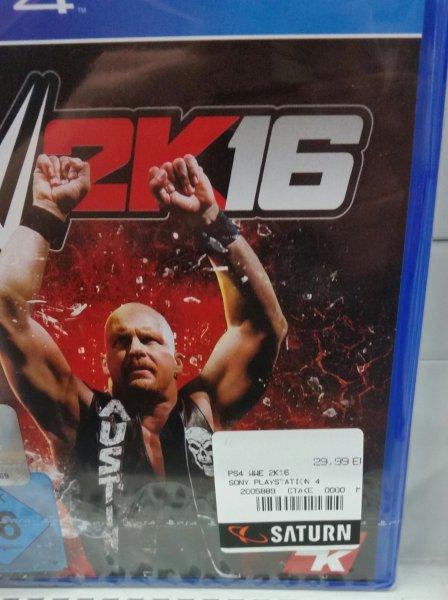 [lokal saturn berlin steglitz] WWE 2k16 PS4 29,99€, idealo 38,42€ (evtl. bundesweit??)
