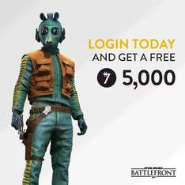 Star Wars Battlefront: An diesem Wochenende einloggen und 5.000 Credits gratis erhalten