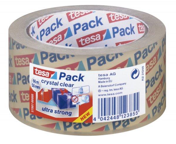 [Amazon] 6x Tesapack Verpackungsklebeband (50mmx60m kristall klar & ultra strong) für 5,59€ / 24 Rollen für 22,36€ = 93 Cent/Rolle
