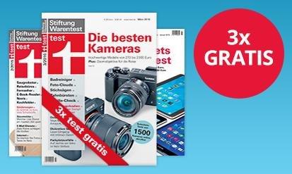 4 x Stiftung Warentest + 12 Monate test.de-Flatrate für online Inhalte für 29,66€