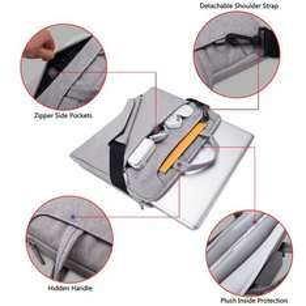 Amazon Vanwalk Umhängetasche (10 bis 13,3 Zoll) für Laptop / Tablet / Notebook / Macbook Pro / Air, staubdicht, wasserfest (grau)