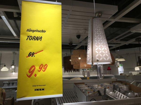 """[IKEA Lokal Siegen] """"TORNA"""" Hängeleuchte nur € 9,99 statt € 69,-"""