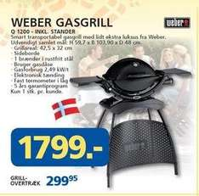 [lokal DK] Weber Gasgrill Q1200 mit Stand für 242 EUR, idealo: ab 302,46 EUR