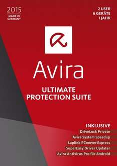 [Amazon Prime] Avira Ultimate Protection Suite 2015 - 2 User / 6 Geräte / 1 Jahr