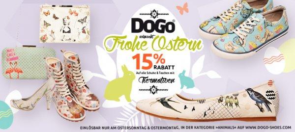 15% Rabatt auf alle Schuhe mit Tiermotiven bei DOGO