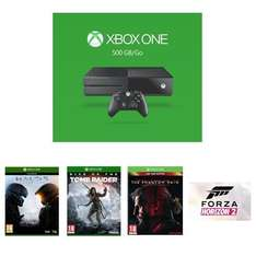 [Amazon.fr] Xbox One 500GB 2015 + Halo 5: Guardians + Rise of the Tomb Raider + Metal Gear Solid V: The Phantom Pain D1 + Forza Horizon 2 für 326,23€
