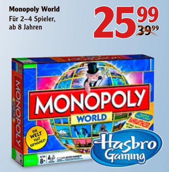 """[VÖLKLINGEN] Globus: Die alte Version von """"Monopoly World"""" (Hasbro 1612100) für 25,99€ (Idealo: 103,90€)"""