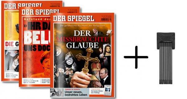 """[Studenten] 12 Ausgaben """"Der Spiegel"""" + ABUS Bordo 6000/90 für 20,90€"""