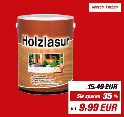 Toom  Holzlasur 5 L. 9,99€