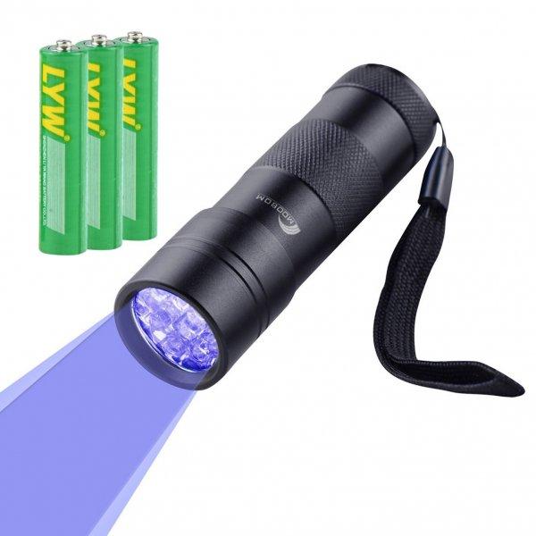 @Amazon: LED Taschenlampe mit UV-Licht / Schwarzlicht von Moobom ab 6,99€ mit Prime
