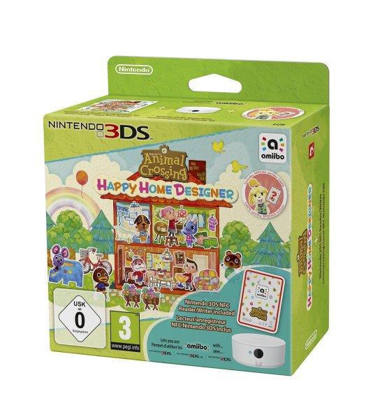 [amazon.co.uk] Animal Crossing: Happy Home Designer + amiibo Card + NFC Reader/Writer [3DS] für 21,96€ inkl. Versand