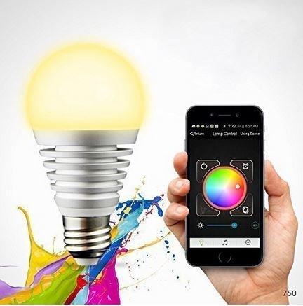 LED E27 Bluetooth dimmbare Farbwechsel mit Smartphone für 20.24€